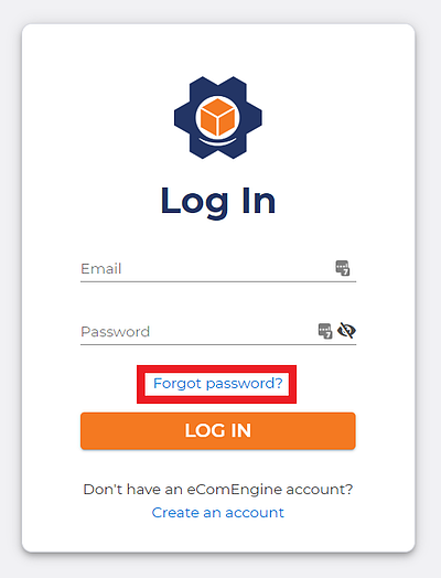 Box around the forgot password link on the FeedbackFive sign-in page