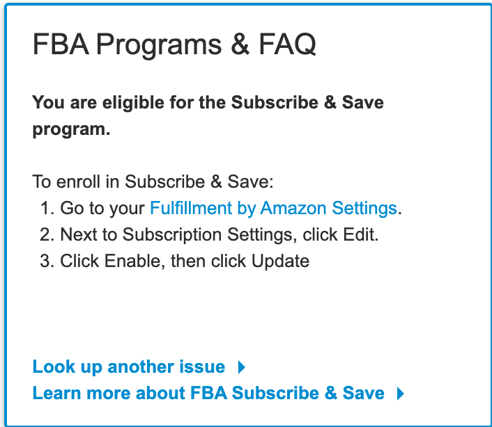 Screenshot of Amazon Subscribe and Save enrollment steps