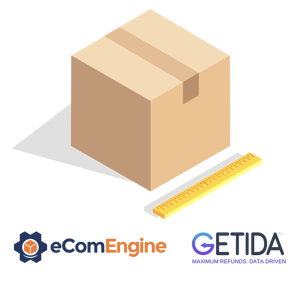Box and ruler above eComEngine and GETIDA logos