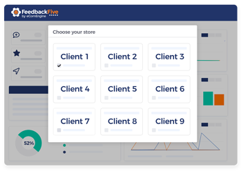 Client store management view in FeedbackFive