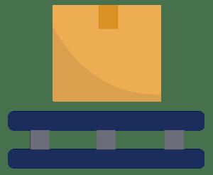 Illustration of box on pallet