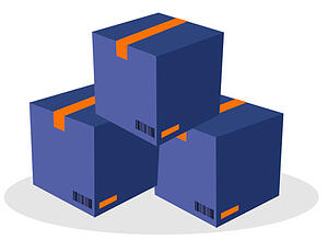 Illustration of a stack of boxes