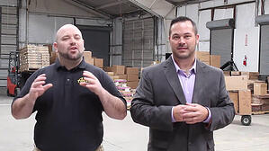 Dan and Eric in a warehouse