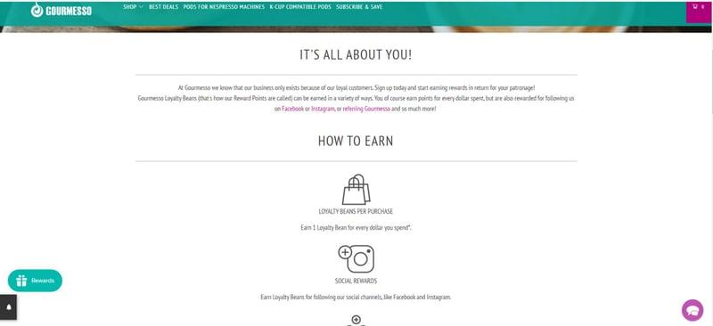 Gourmesso loyalty program sign up