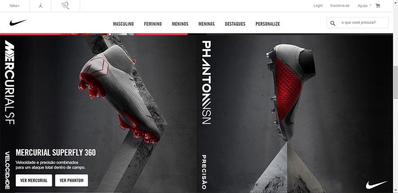 Nike Brazil homepage