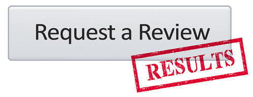 Amazon Request a Review button results