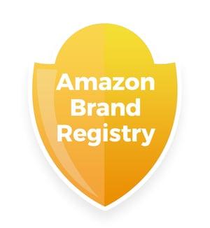 Badge with text, Amazon Brand Registry