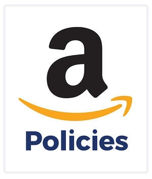 """Amazon logo with text, """"Policies"""""""