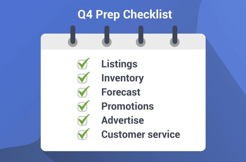 Amazon Q4 prep checklist