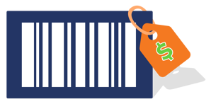 Barcode with price tag