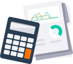 Calculator with sales documents