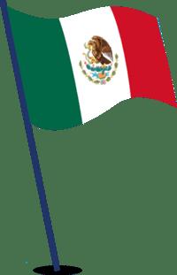 Mexican flag illustration