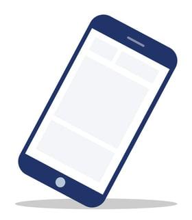 Illustration of mobile phone