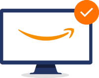 Monitor with Amazon smile