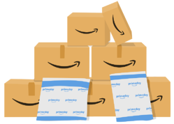 Amazon boxes and Prime packaging