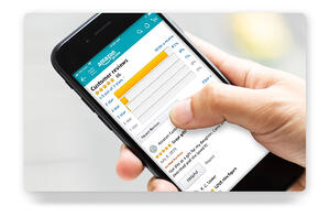Smartphone showing a listing with Amazon product reviews