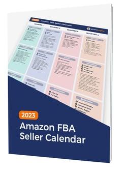 """Calendar cover with text, """"2020 Amazon FBA seller calendar"""""""