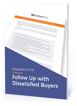 "Template cover with text, ""Follow up with dissatisfied buyers"""