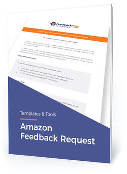 "Template cover with text, ""Amazon feedback request"""