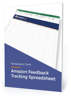 """Template cover with text, """"Amazon feedback tracking spreadsheet"""""""