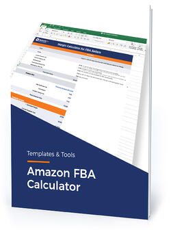 "Template cover with text, ""Amazon FBA calculator"""