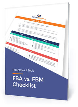 "Checklist cover with text, ""FBA vs. FBM checklist"""