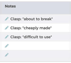 feedbackfive-sorted-clasp-notes-screenshot