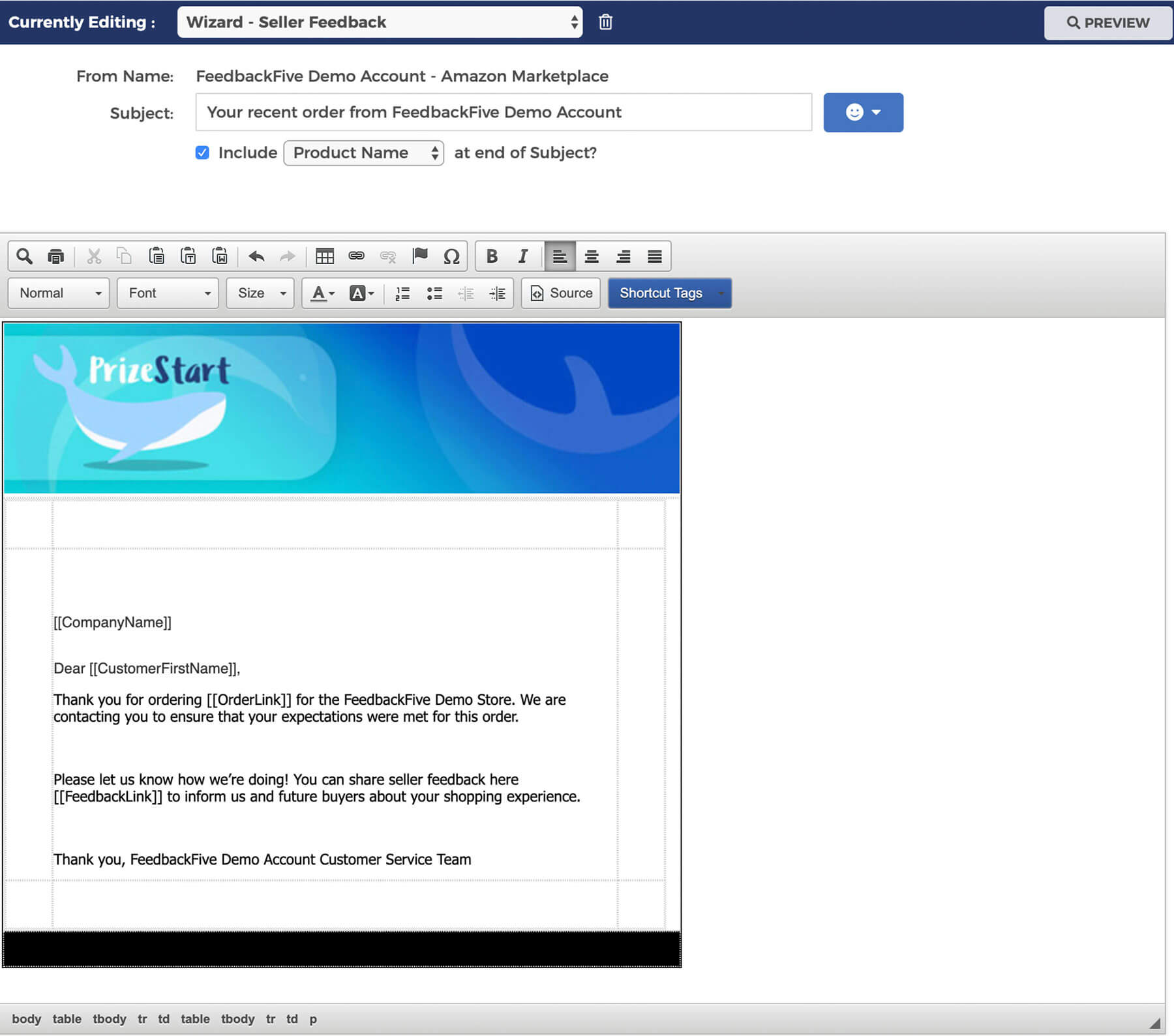 feedbackfive-thank-you-email-screenshot