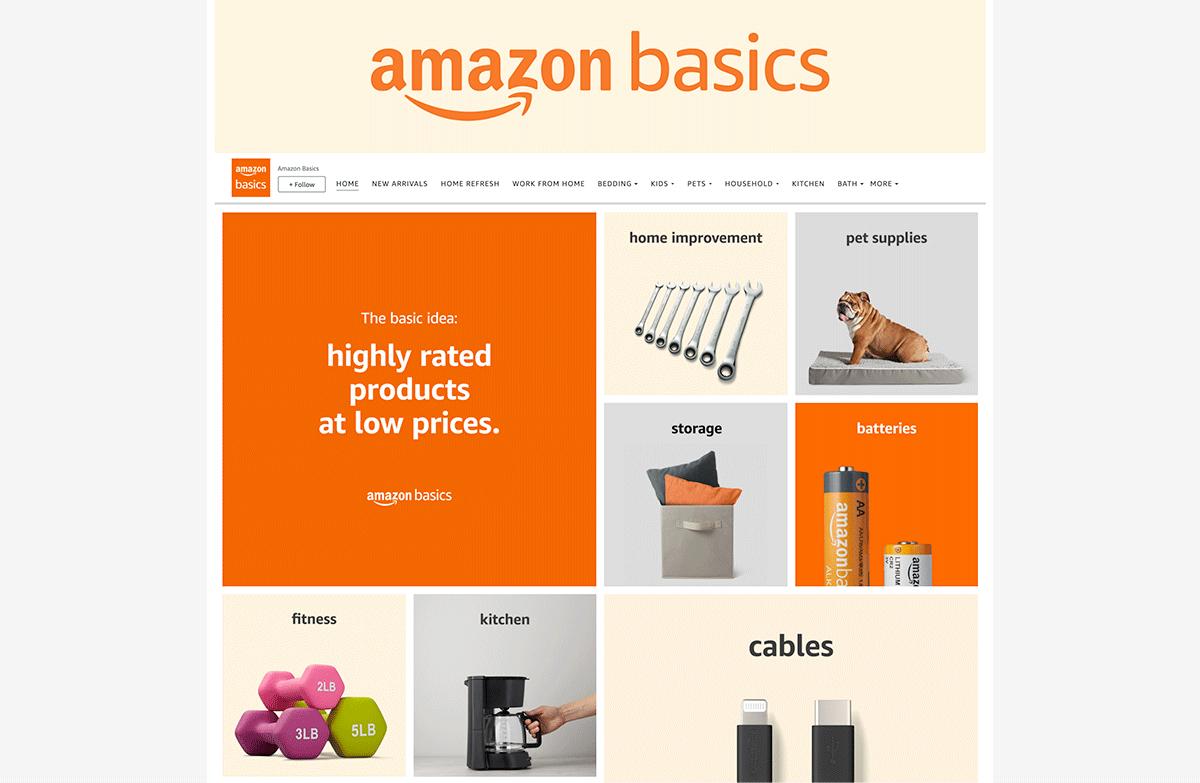 Amazon Basics brand store