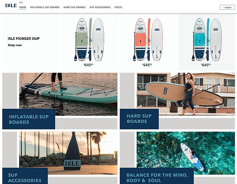 Amazon Brand Store for a paddleboard company
