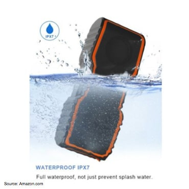 Amazon product image of an electronic device falling into water