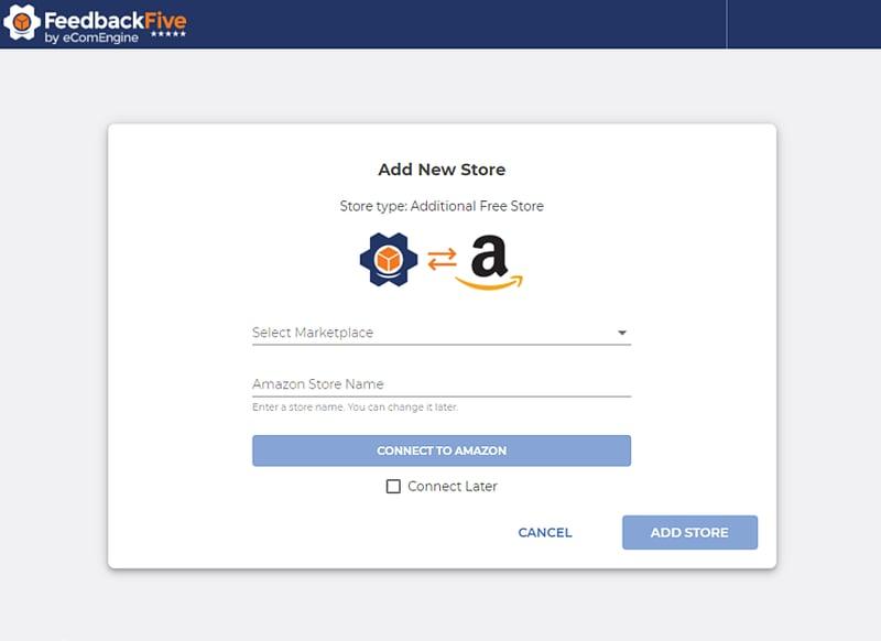 FeedbackFive add new store