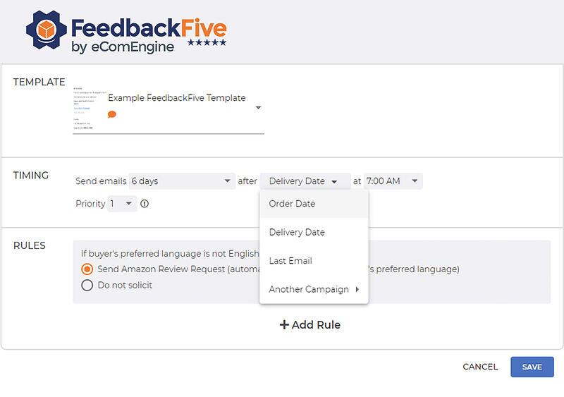 Campaign rules timing in FeedbackFive