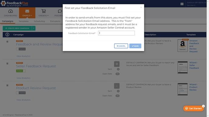 Setting your feedback solicitation email window in FeedbackFive