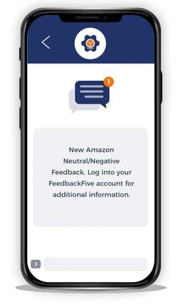 FeedbackFive feedback alert on mobile