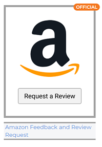 Thumbnail image of the official Amazon feedback and review request email template in FeedbackFive
