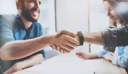 Business partner handshake