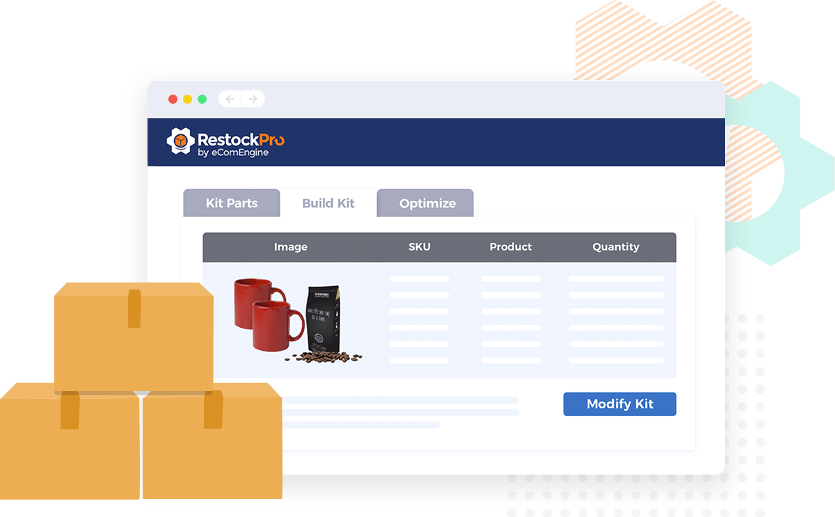Illustration of the RestockPro Kit Optimizer with boxes