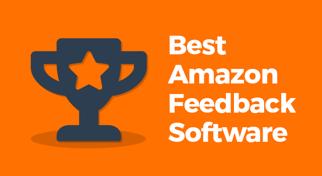 """Trophy with text, """"Best Amazon feedback software"""""""