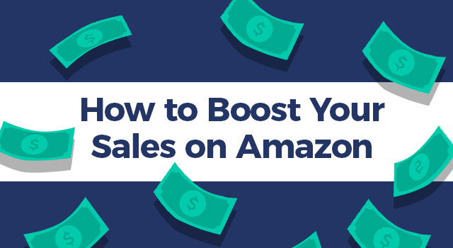 "Money with text, ""How to boost your sales on Amazon"""