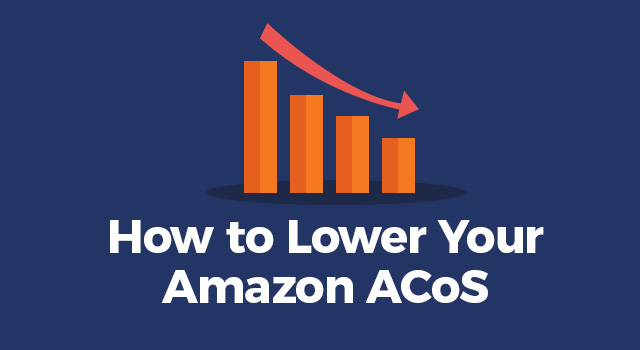 "Graph trending downward with text, ""How to lower your Amazon ACoS"""