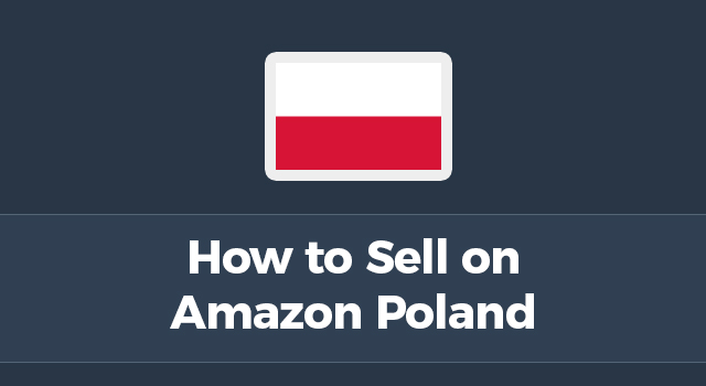 "Polish flag with text, ""How to sell on Amazon Poland"""