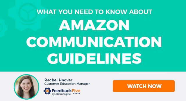 "Photo of the presenting expert with text, ""What You Need to Know About Amazon Communication Guidelines"""