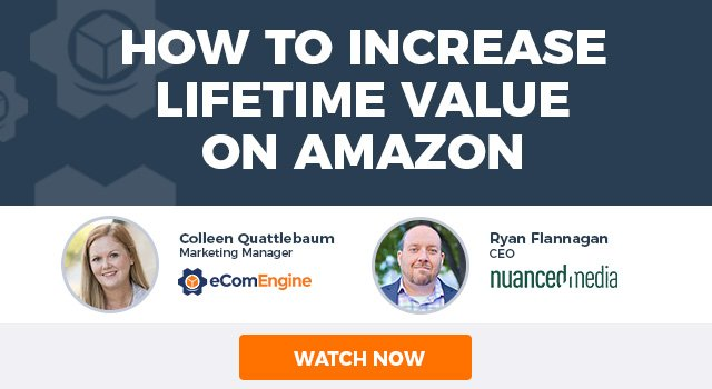 "Photos of the presenting experts with text, ""How to Increase Lifetime Value on Amazon"""