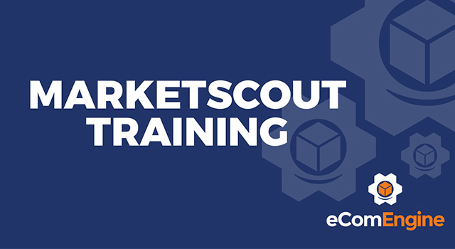 "eComEngine logo with text, ""Marketscout Training"""