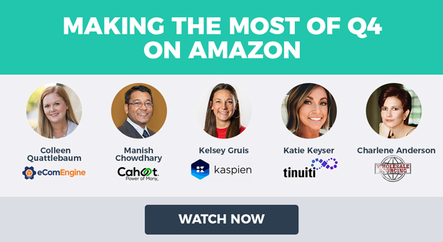 """Images of the featured presenters and text, """"Making the Most of Q4 on Amazon"""""""